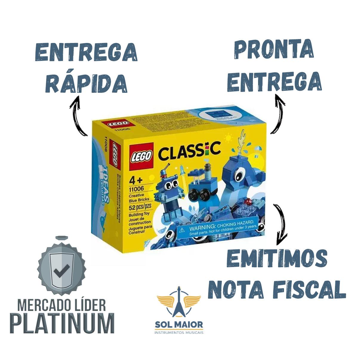 Lego 11006 Criativas Azul - Lego Classic - 52 Peças