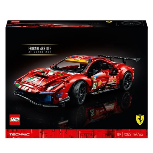 Lego 42125 Technic Ferrari 488 Gte Af Corse 51 - 1677 Peças