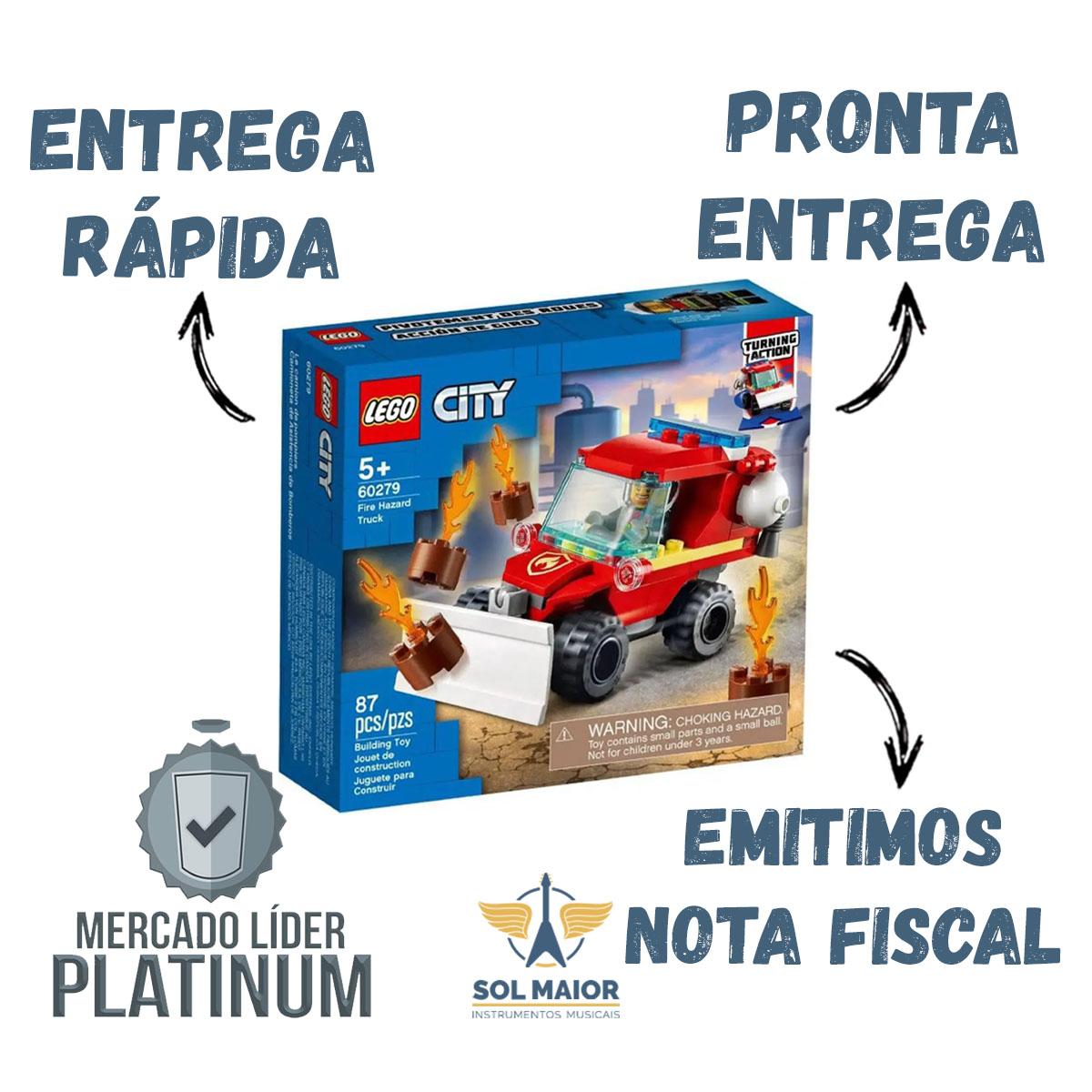 Lego 60279 City Jipe De Assistência Dos Bombeiros - 87 Peças