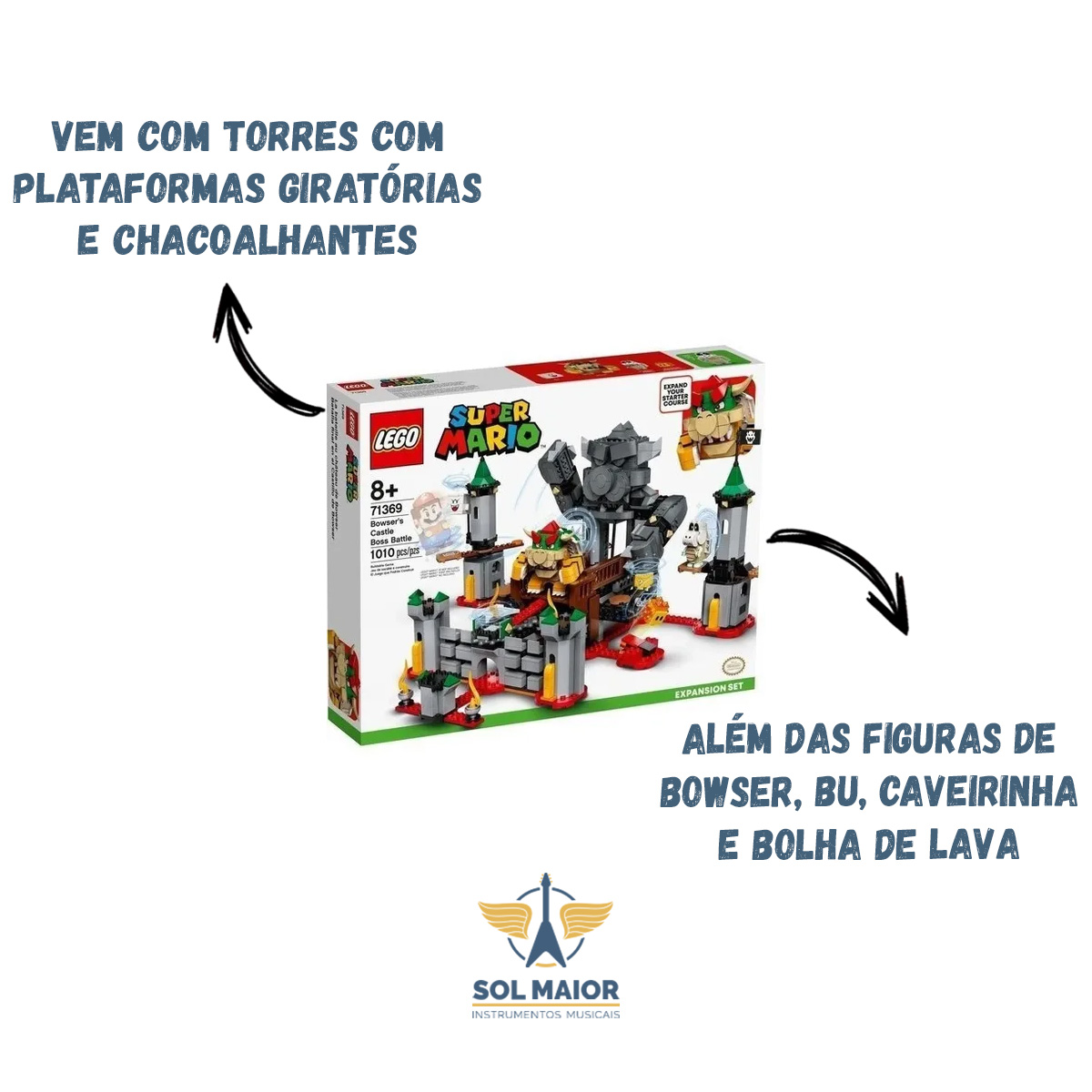 Lego 71369 Super Mario Batalha Castelo Bowser - Expansão