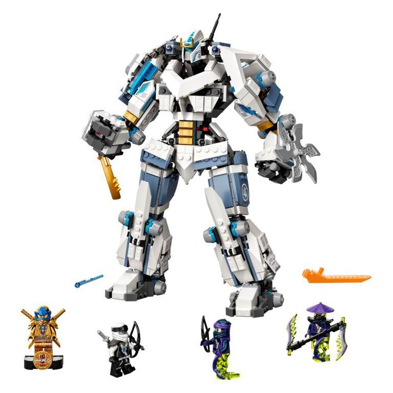 Lego 71738 Ninjago O Combate Do Robô Titã De Zane 840 Peças
