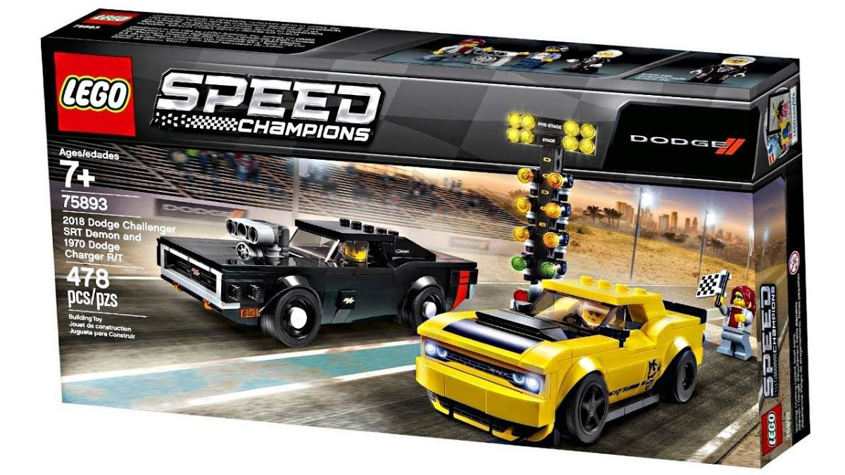 Lego 75893 Speed Champions Challenger Srt Demon E 1970 Dodge