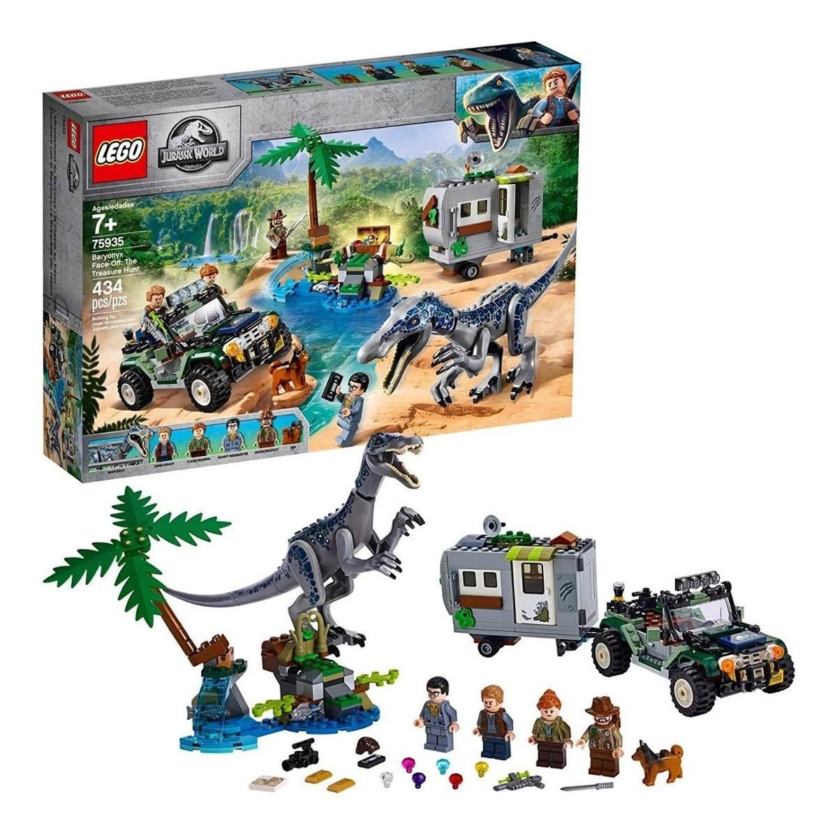 Lego 75935 Jurassic World - Caça Ao Tesouro Original + Nfe