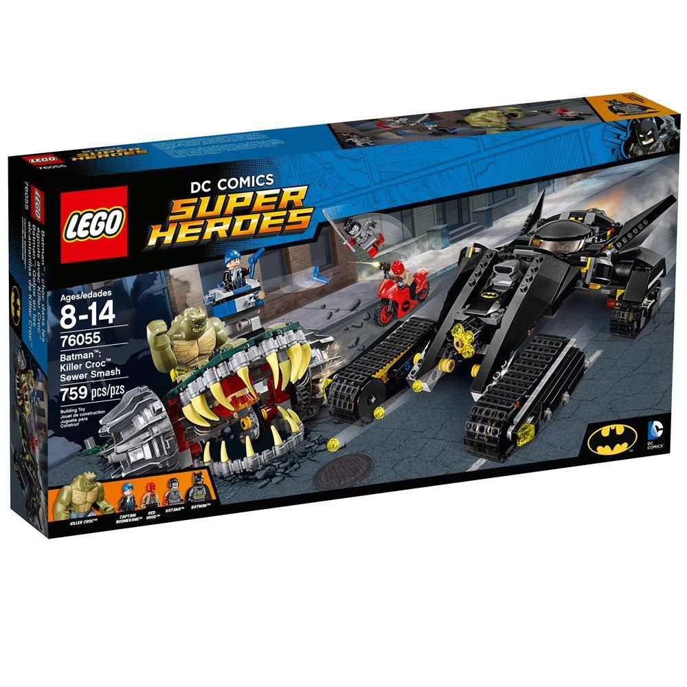 Lego 76055 - Batman Crocodilo Combate Nos Esgotos