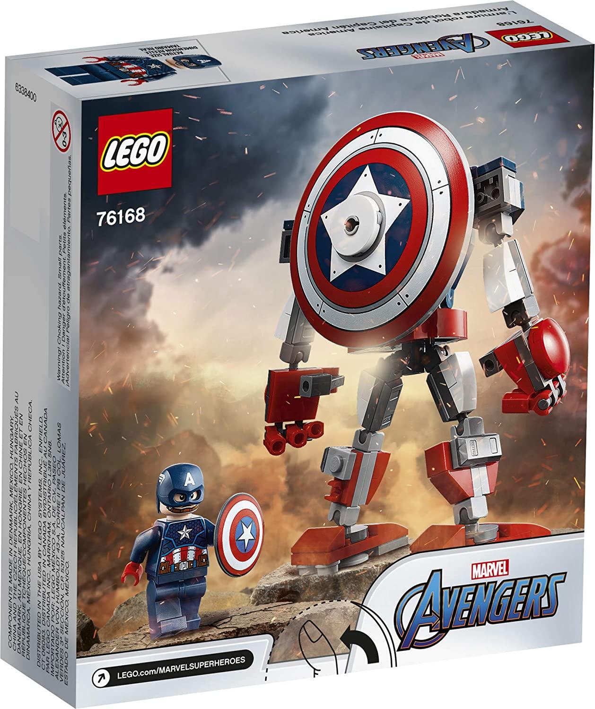 Lego 76168 Super Heróis - Armadura Robô Do Capitão América