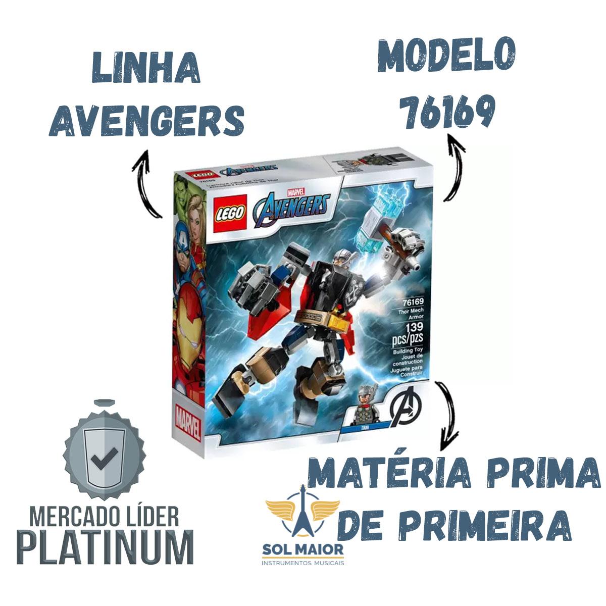 Lego 76169 Marvel Avengers - Armadura Robô Do Thor 139 Peças