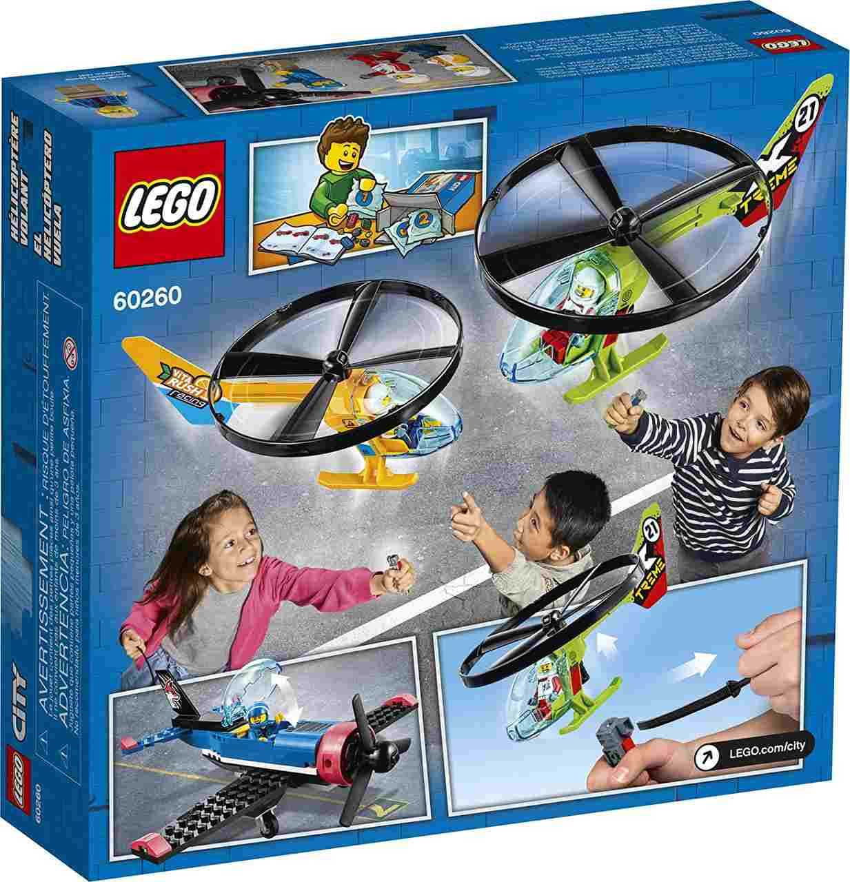 Lego City 60260 - Veiculo Avião Corrida Aérea Com 140 Peças