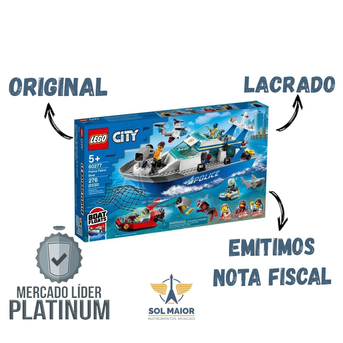 Lego City 60277 - Barco De Patrulha Da Policia