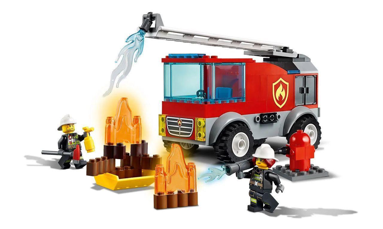 Lego City 60280 Caminhão Dos Bombeiros Com Escada 88 Peças