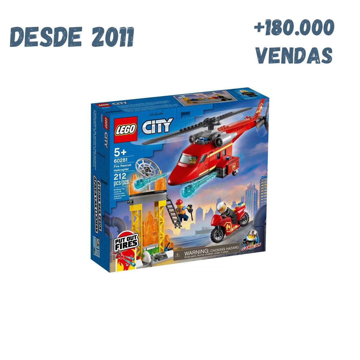 Lego City 60281 - Helicóptero De Resgate De Bombeiro