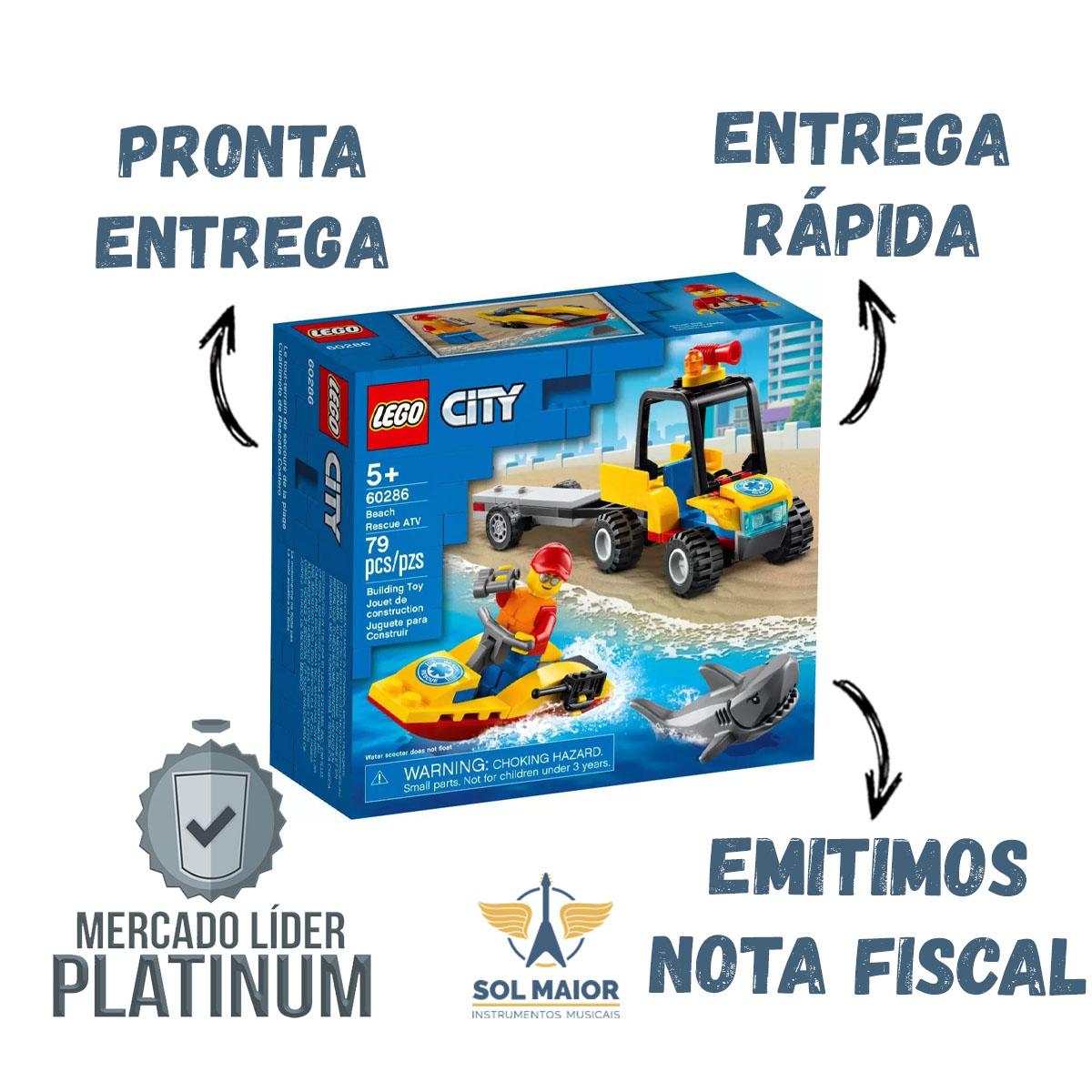 Lego City 60286 - Carro Off Road De Resgate Na Praia 79 Pçs