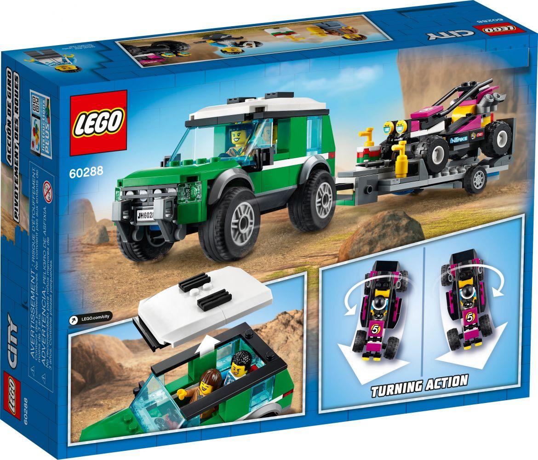 Lego City 60288 - Transportador De Buggy De Corrida