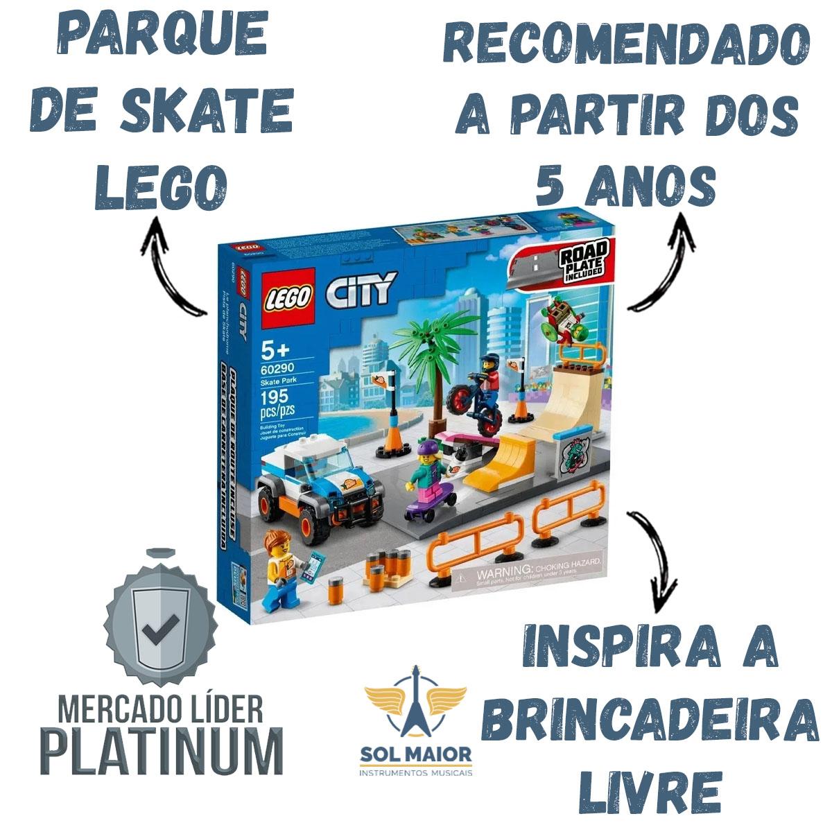 Lego City 60290 - Parque de Skate com Placa de Estrada