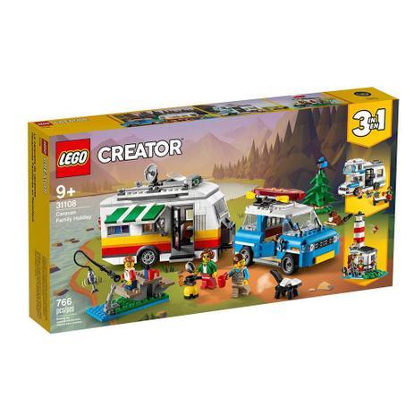 Lego Creator 31108: Modelo 3 Em 1 Férias Família No Trailer