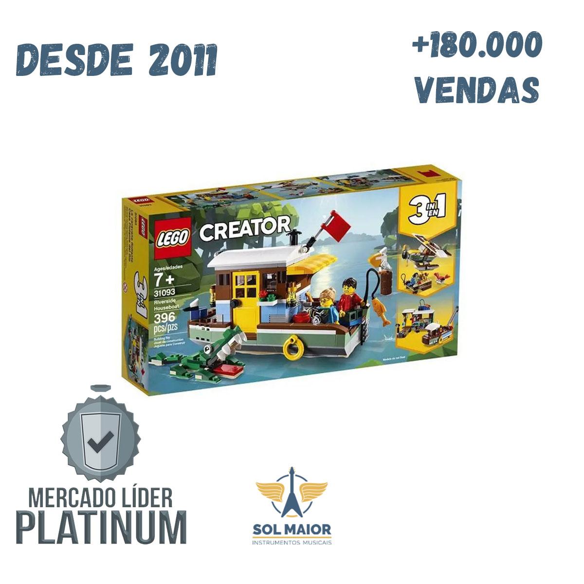 Lego Creator 3 em 1 31093 - Casa Flutuante na Margem do Rio