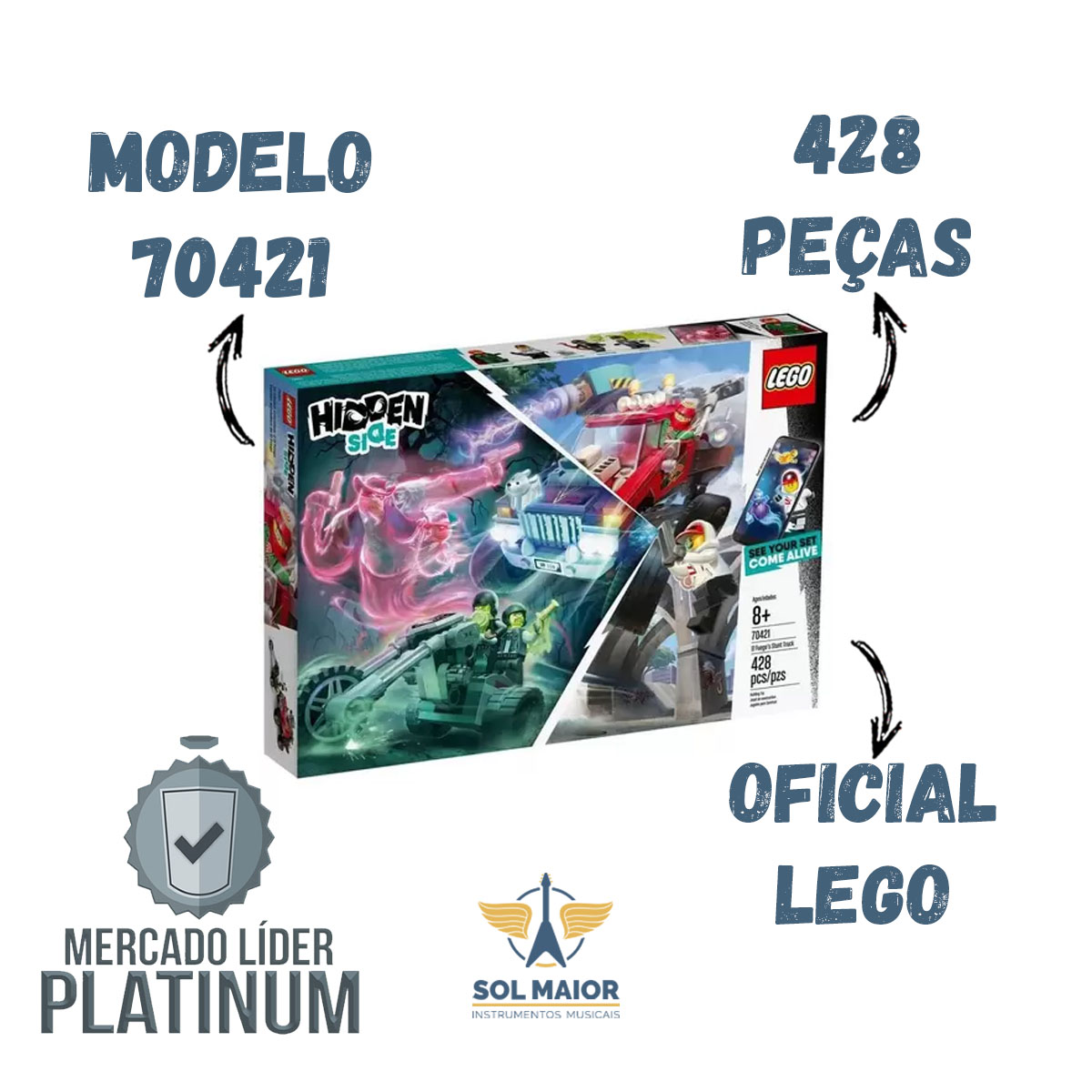 Lego Hidden Side 70421 - Caminhão De Acrobacias Do El Fuego
