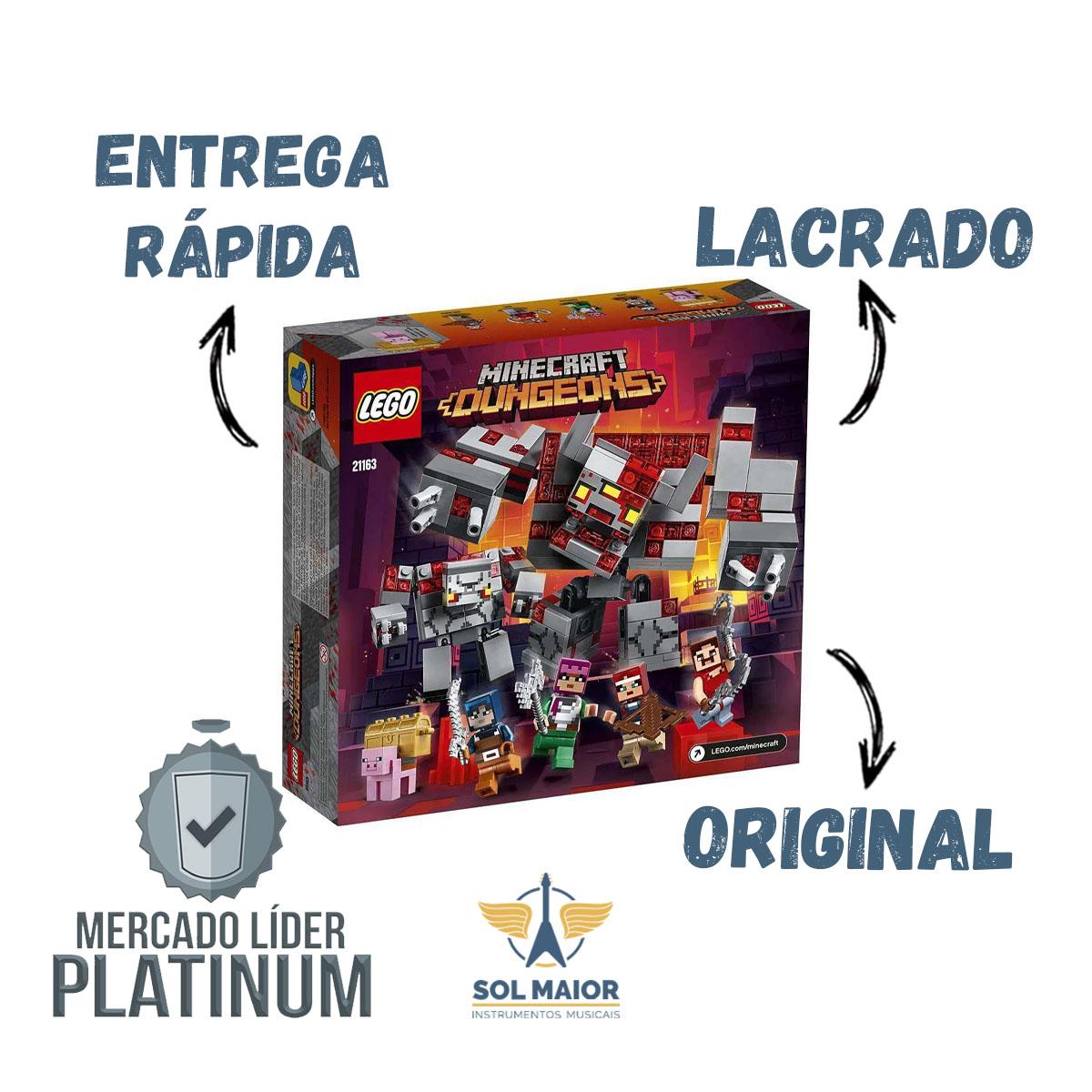 Lego Minecraft 21163 A Batalha Da Redstone 504 Peças