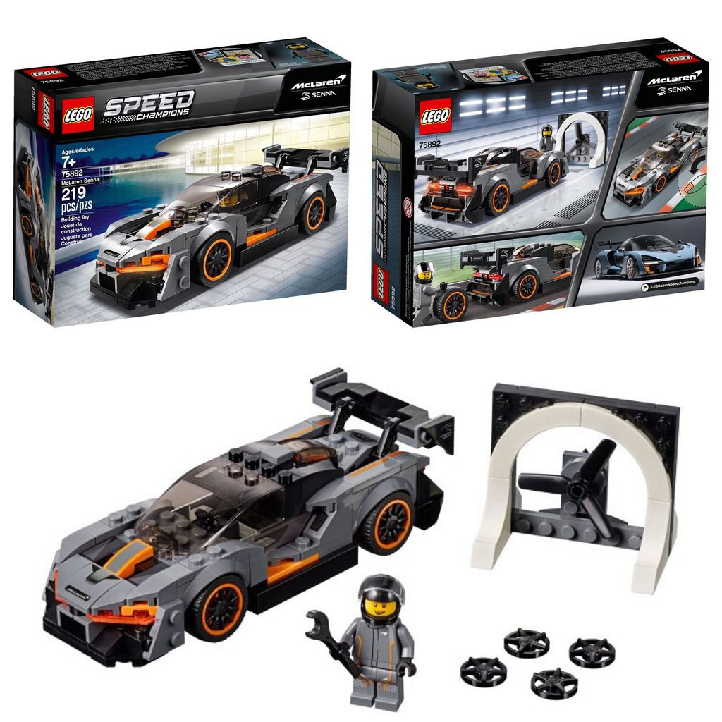 Lego Speed Champions Mclaren Senna 75892 219 Peças