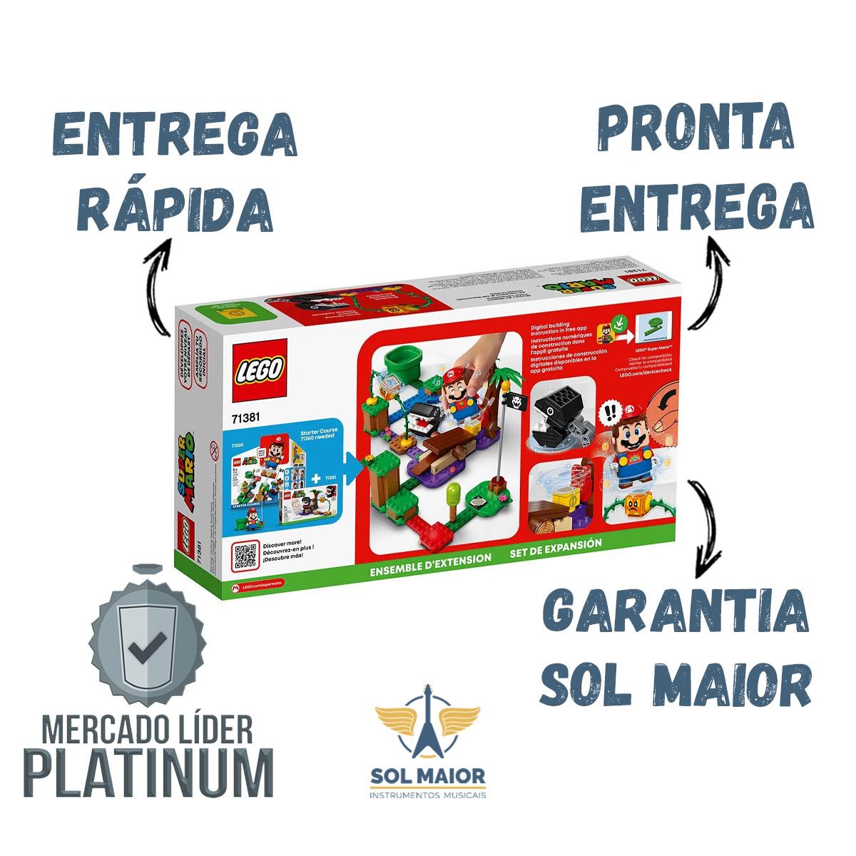 Lego Super Mario 71381 Confronto Na Selva Chomp Chomp 160pçs