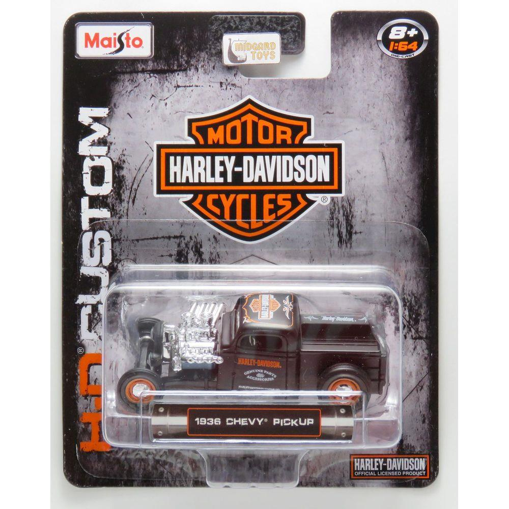 Maisto Harley Davidson HD Custom Carros Miniatura 1:64