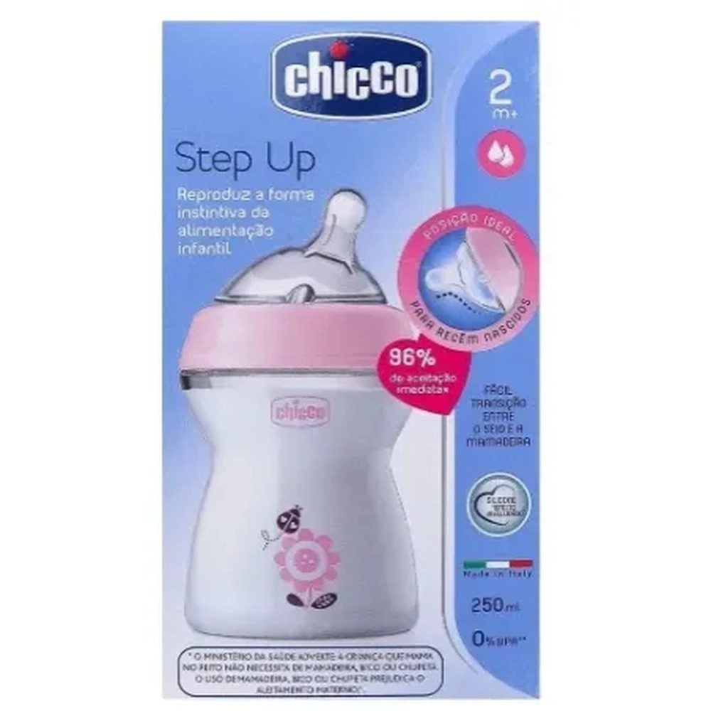 Mamadeira - Step Up - Rosa - 250 Ml - Chicco