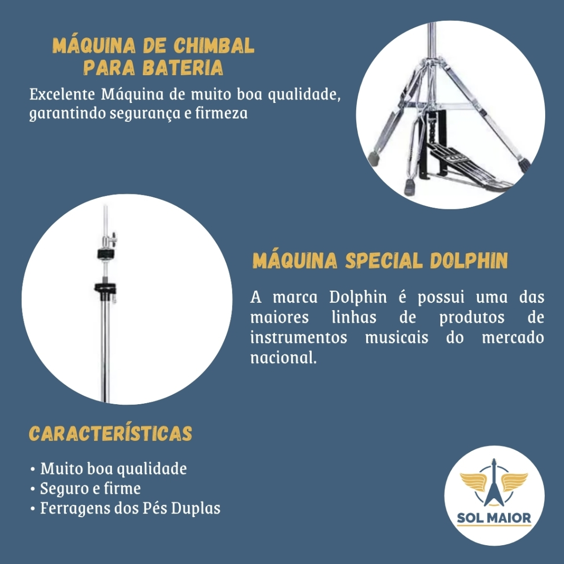 Maquina de Chimbal Special Dolphin - 7482