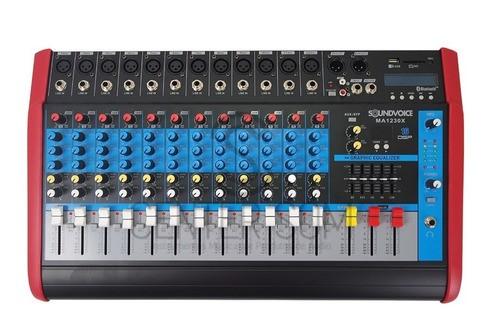 Mesa De Som 12 Canais Amplificada 500w Rec Usb Ef Bt Ma1230