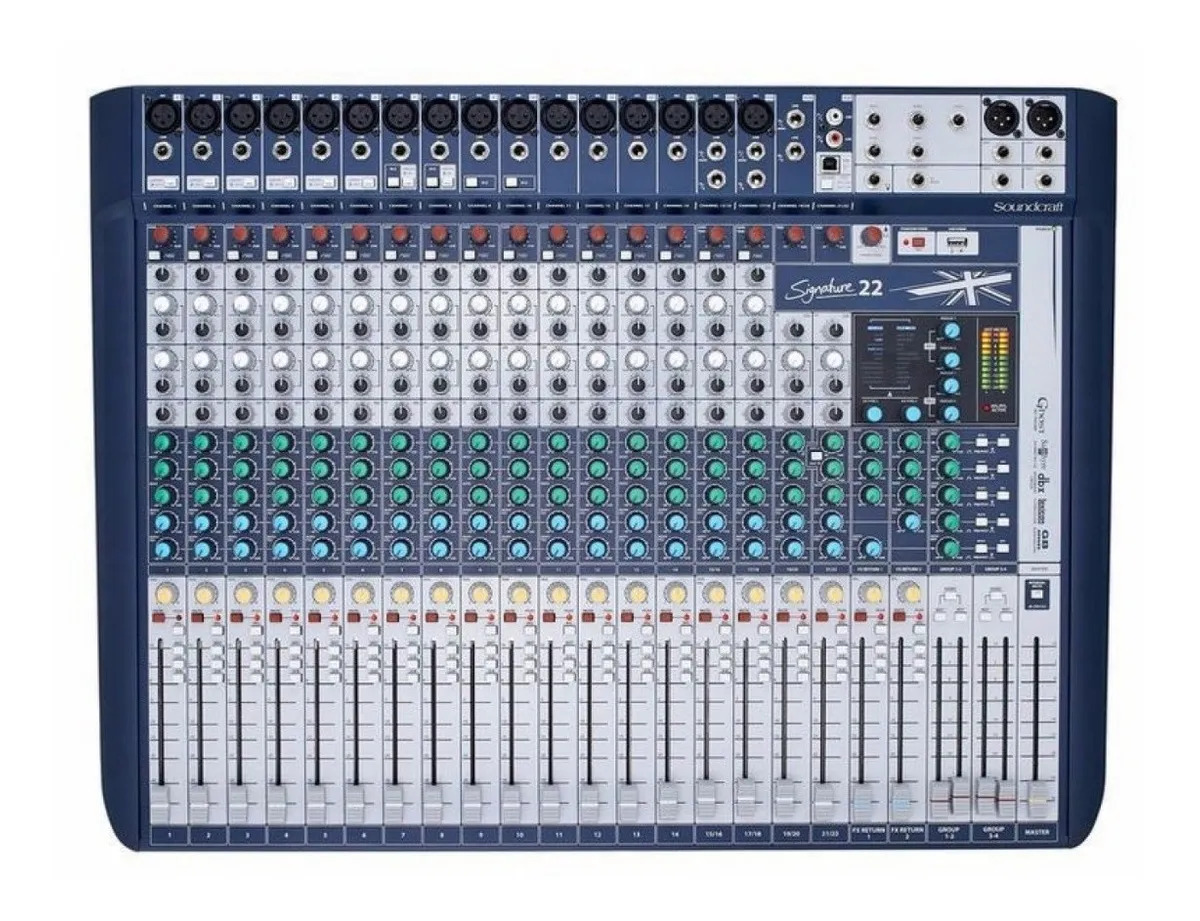 Mesa De Som Soundcraft Signature 22 Nf-e Garantia 1 Ano