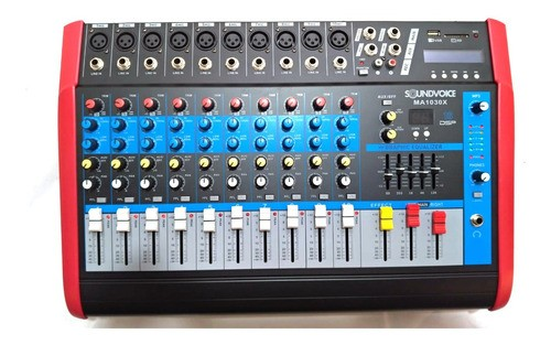 Mesa Som Amplificada 10 Canais 500 W Rms Soundvoice Ma 1030x