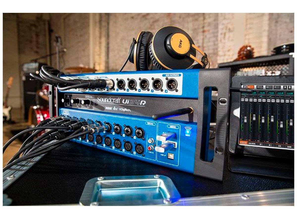 Mesa Som Digital Ui24r Soundcraft Usb 24 Canais Wi-fi Ui24 R