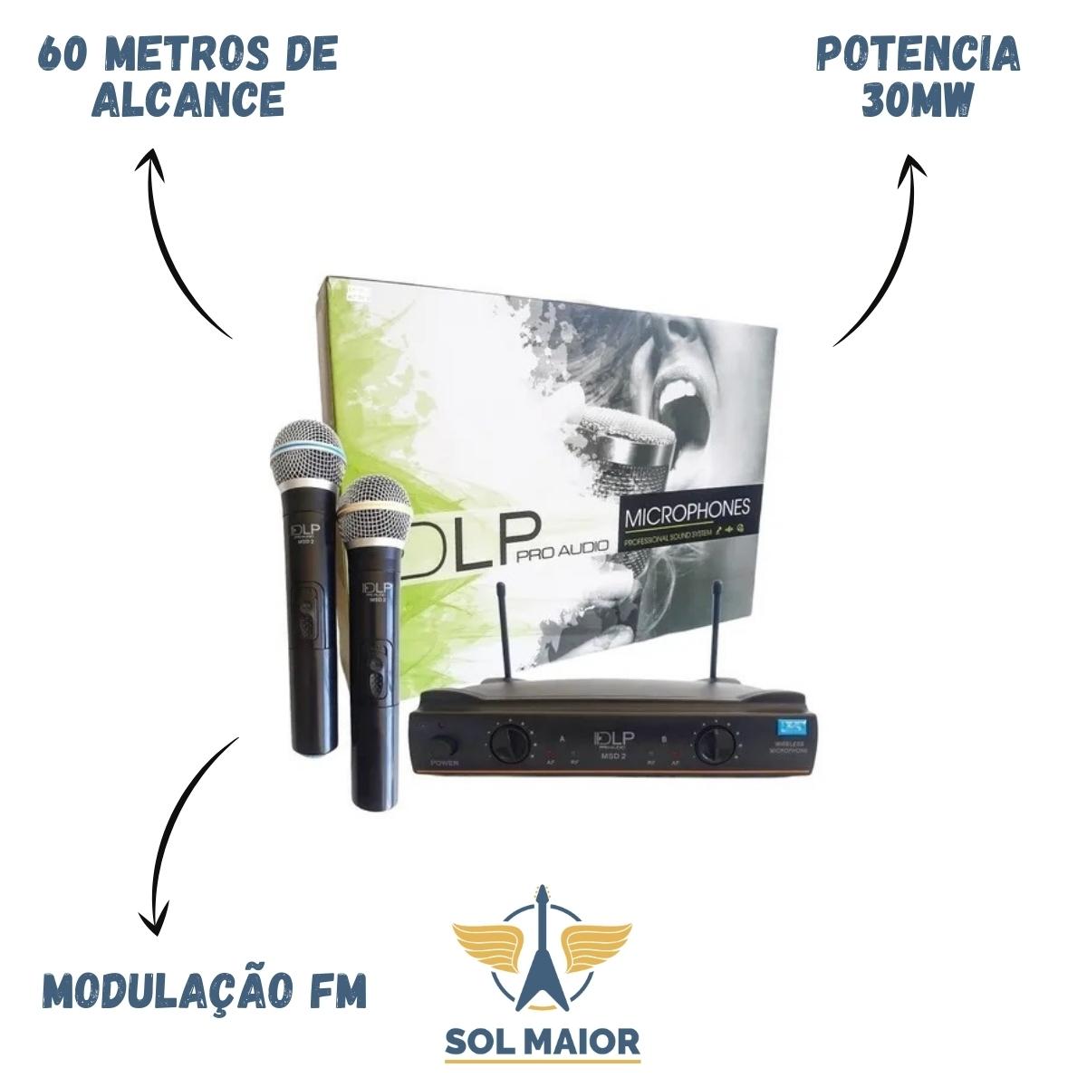 Microfones Sem Fios Dlp Msd2 Dinâmico Unidirecional Preto