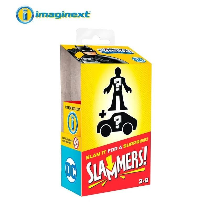 Mini Figura e Veículo Imaginext DC Comics Slammers Surpresa