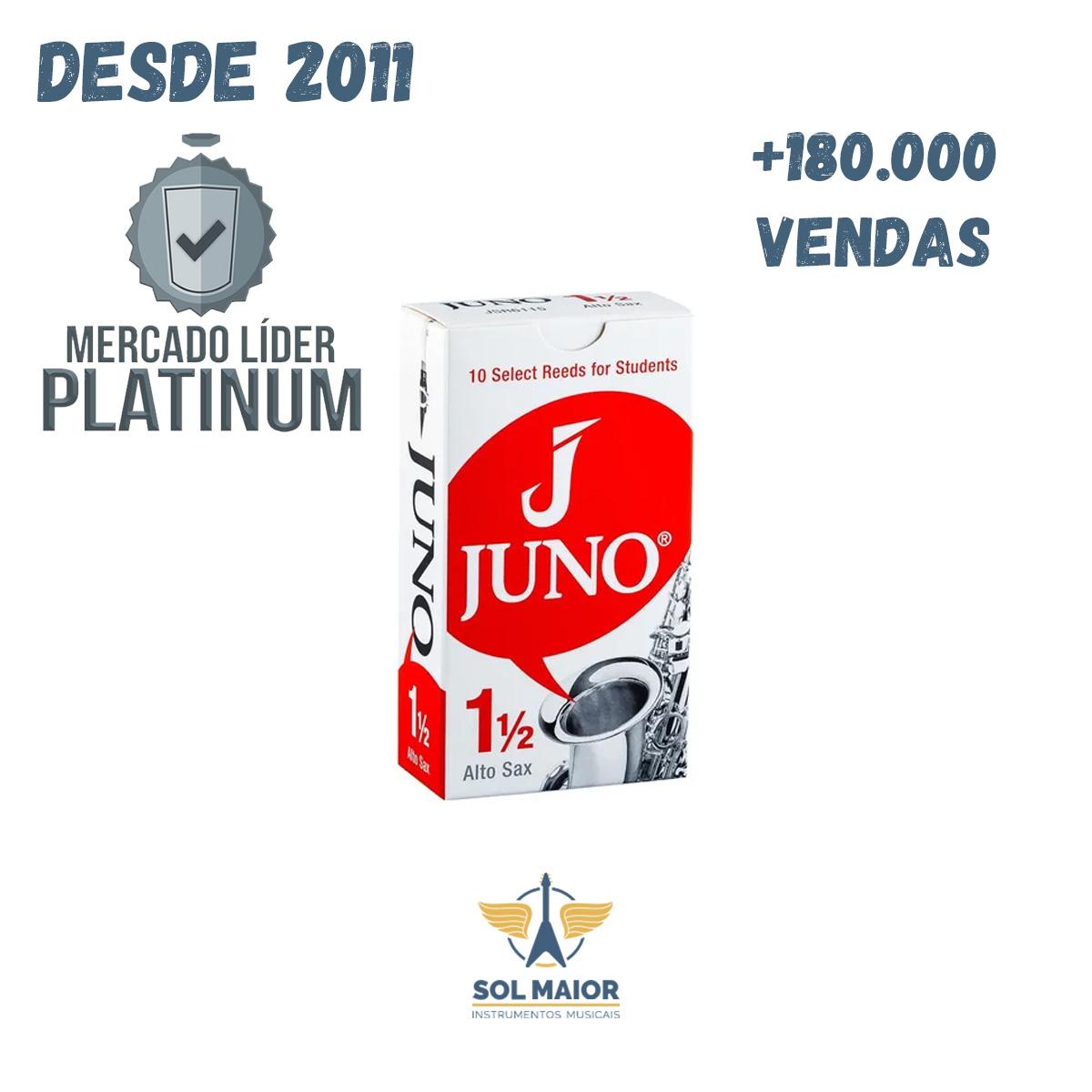 Palheta 1,5 para Sax Alto com 10 unidades JSR6115 - Juno