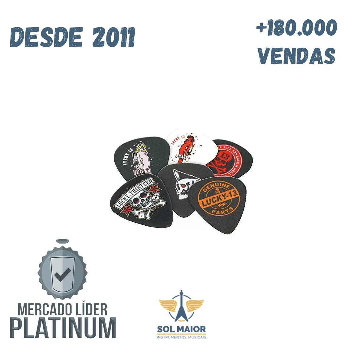 Palheta 1mm Lucky 13  Pct C/6 L13bp1.0 - Dunlop