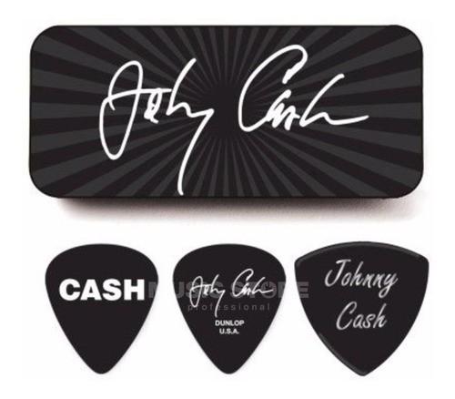Palheta Media Johnny Cash Signaturecx C/6 Dunlop Promoção