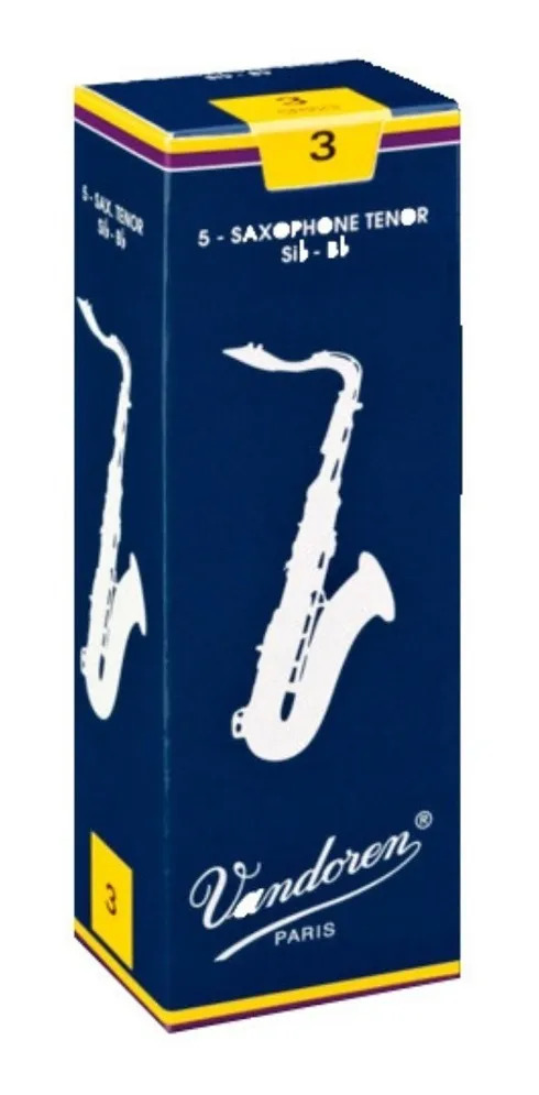 Palheta Tradicional Vandoren 3 Para Sax Tenor Caixa Com 5