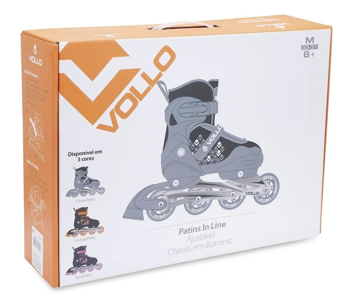 Patins In Line Ajustável Unissex Vollo Sports VPR151P