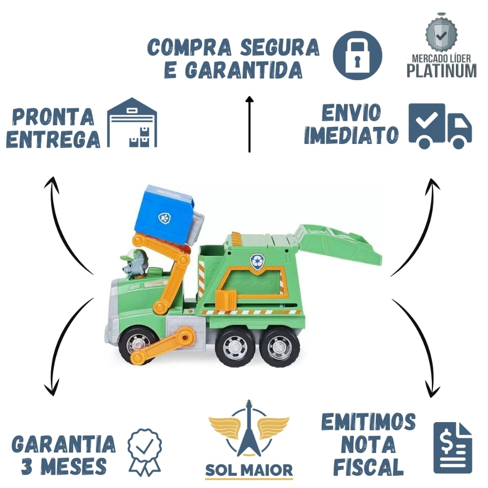 Patrulha Canina Caminhao de Lixo ROCKY - SUNNY 2272