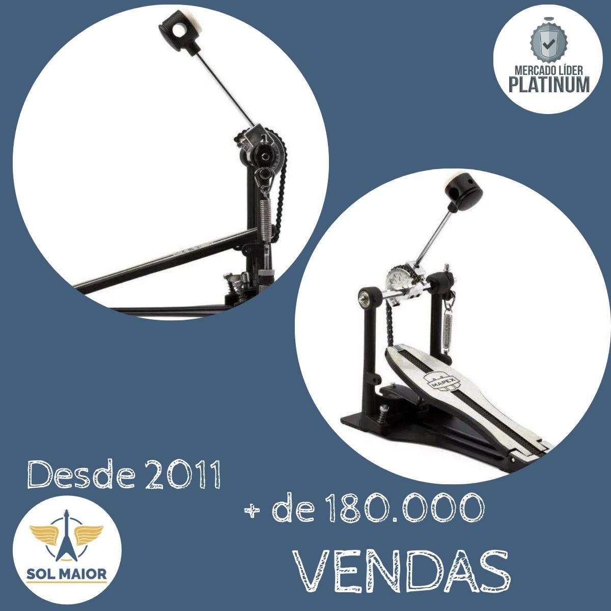 Pedal Bumbo Bateria Acústica Eletrônica P400 Reforçado Mapex