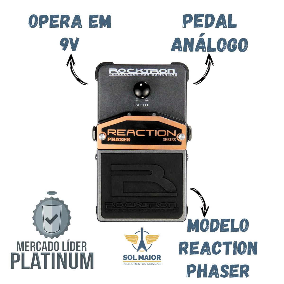 Pedal De Efeitos Rocktron Reaction Phaser Para Guitarra