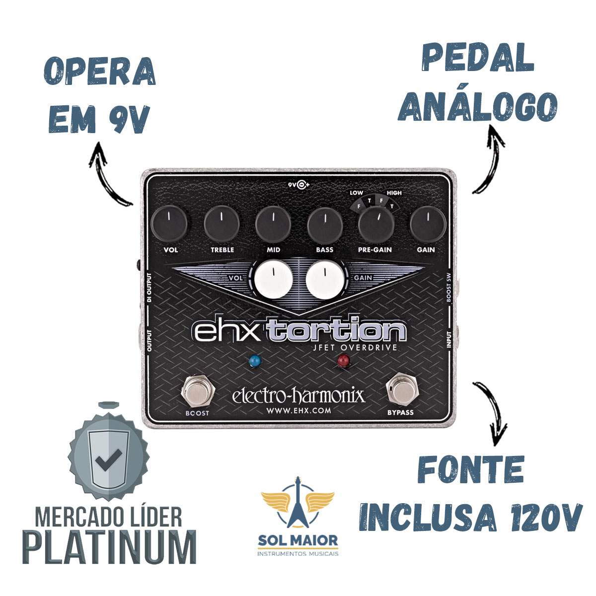 Pedal Electro-harmonix Ehx Tortion Jfet Overdrive Ehxtortion