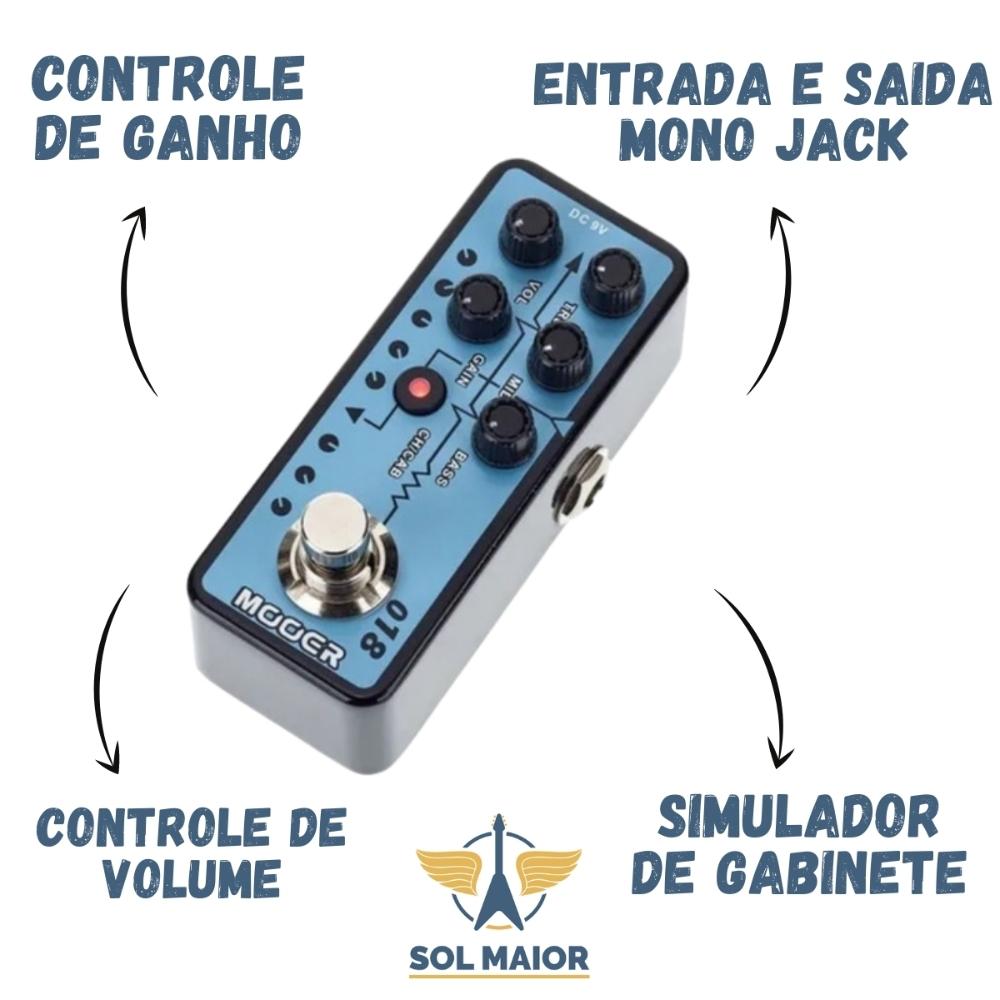 Pedal Pré-amp Mooer M018 Custom 100 Baseado Plexi Boutique