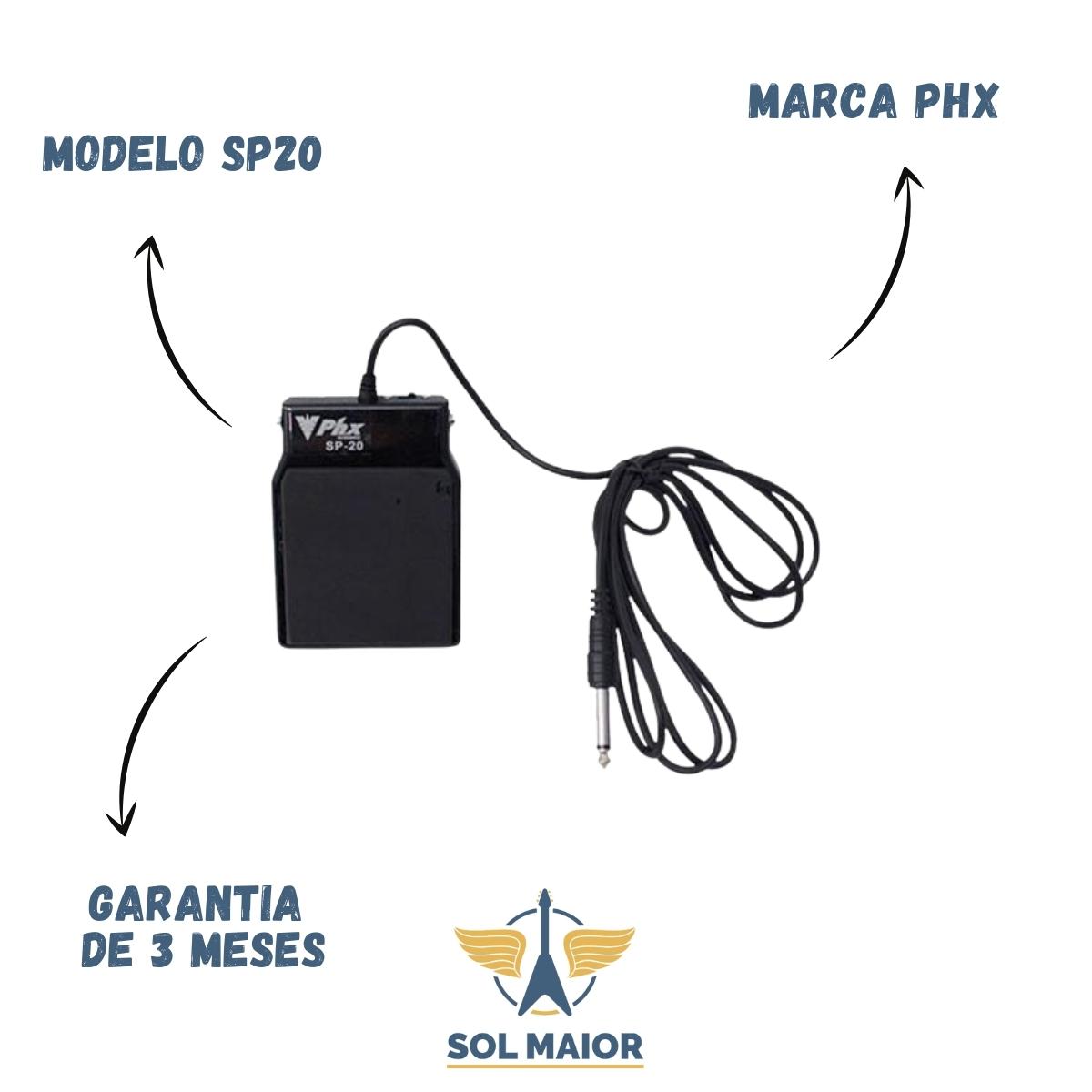 Pedal Sustain Phx SP20 Teclado Piano Korg Yamaha Roland Casio