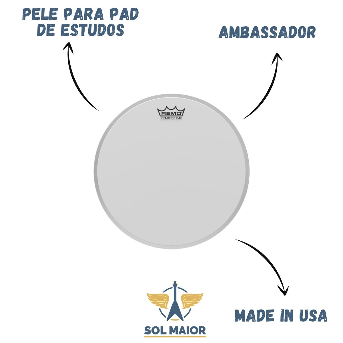 Pele 8 Pol Ambassador Porosa Pad de Estudo PH-0108-00 Remo