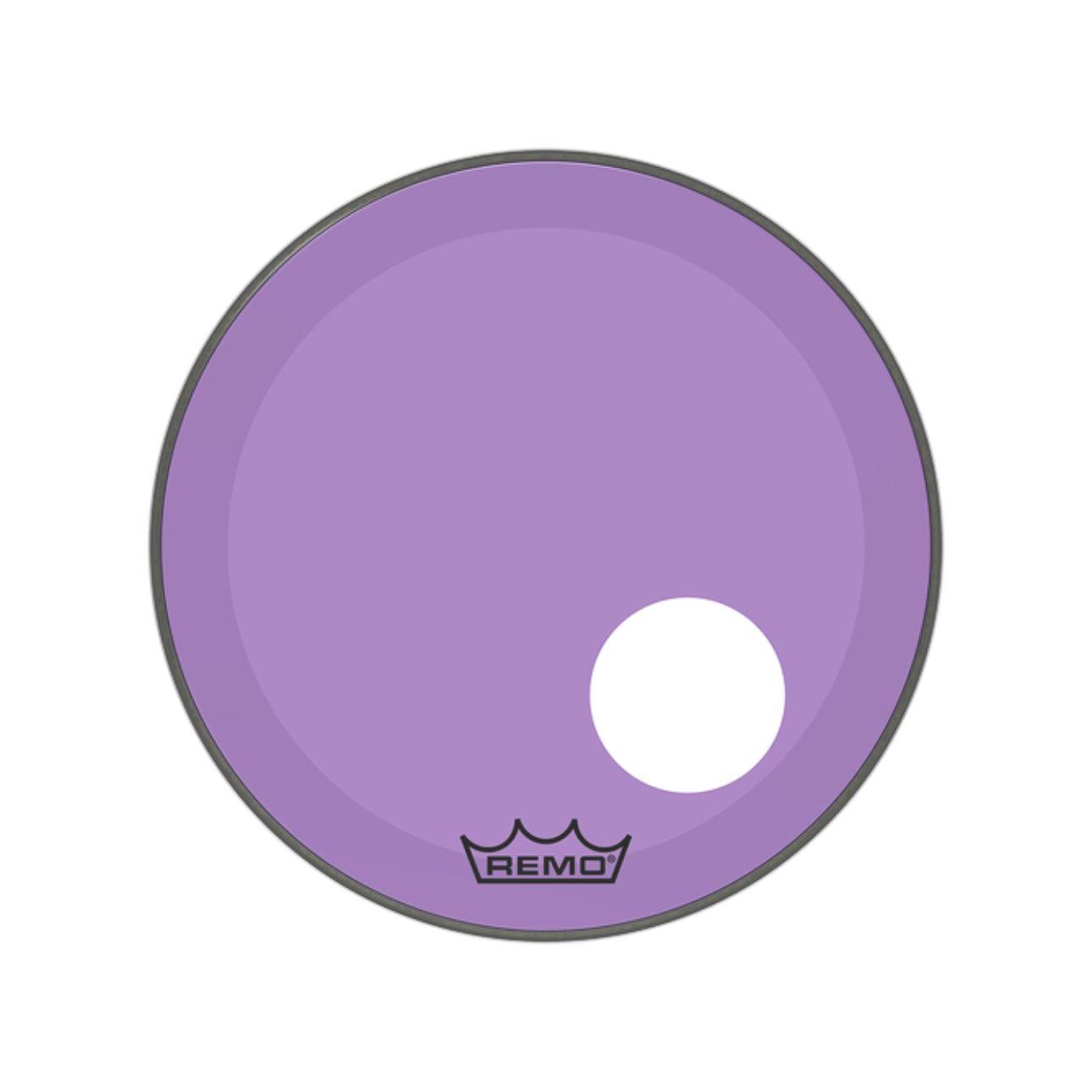 "Pele Bumbo 20"" Powerstroke 3 Com Furo Roxa P3-1320-CT-PUOH"