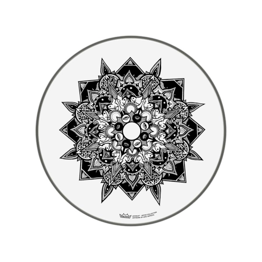 Pele de 16 Polegadas Emperor Skyndeep Transparente com Imagem Disillusion PE-0016-AB-006