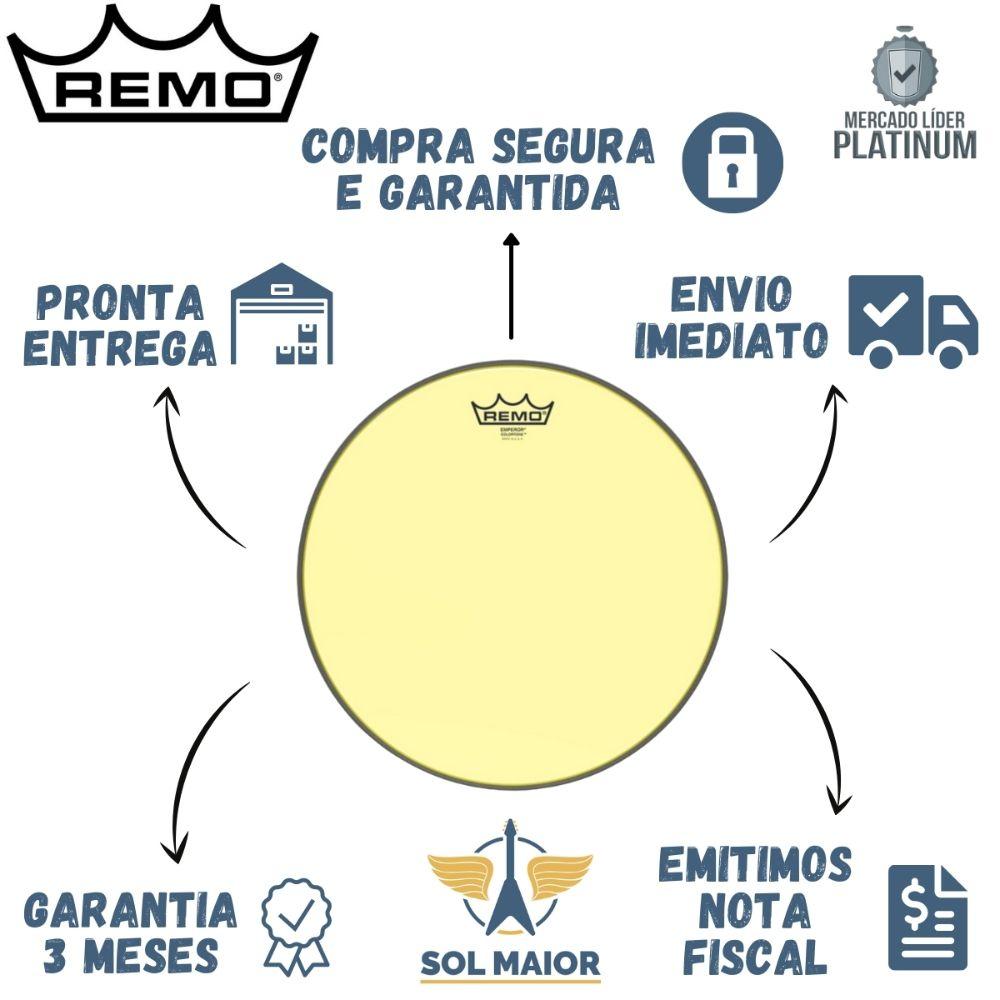 """Pele Remo 13"""" Emperor Colortone Amarela BE-0313-CT-YE"""