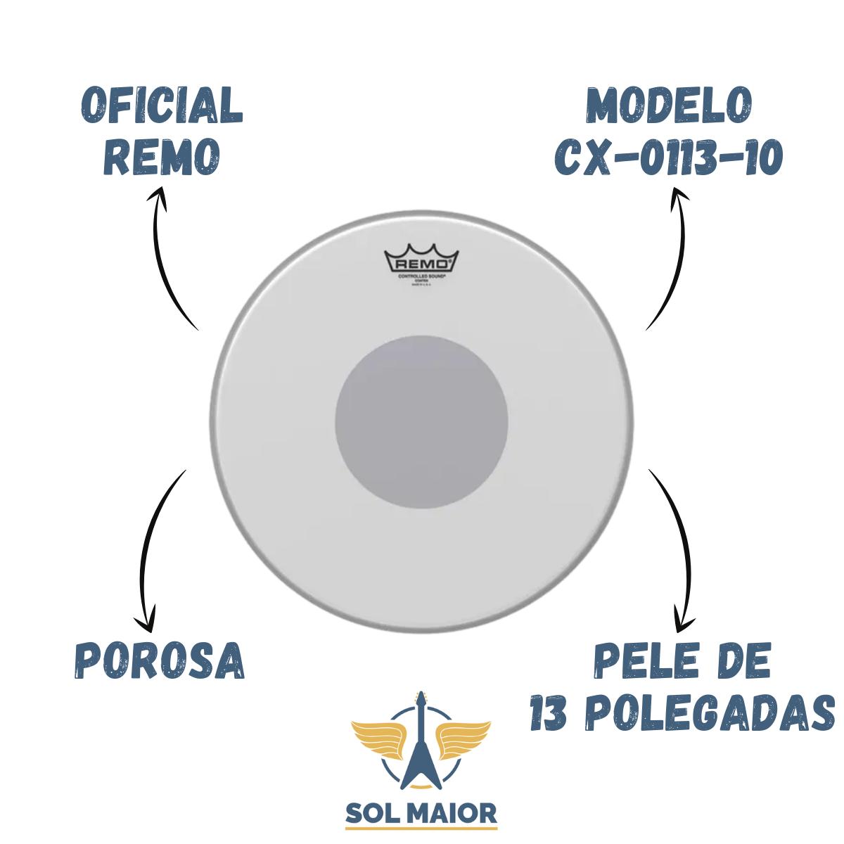 Pele Remo 13 Pol. Controlled Sound X Porosa CX-0113-10