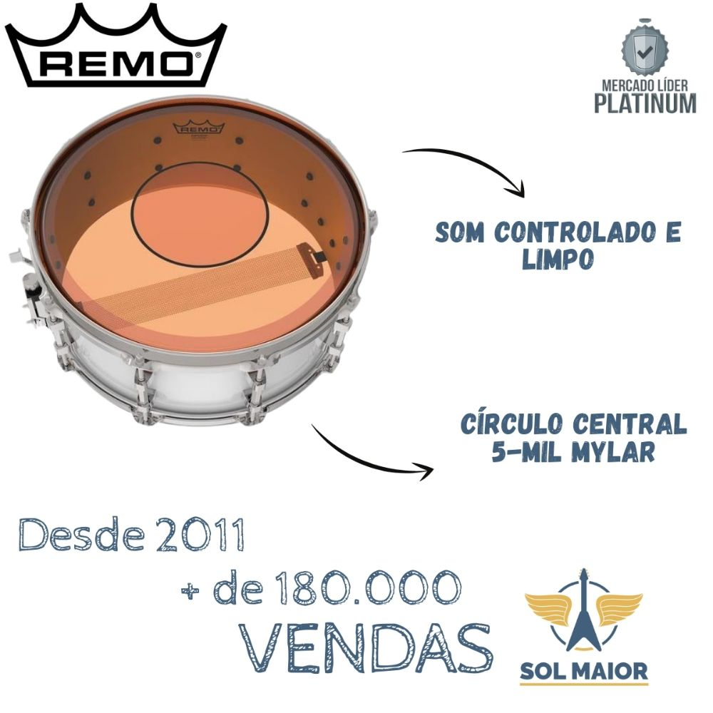 "Pele Remo 13"" Powerstroke 77 Colortone Laranja P7-0313-CT-OG"