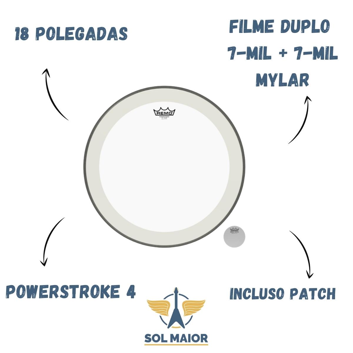 "Pele Remo 18"" Bumbo Powerstroke 4 Impact Patch P4-1318-C2"